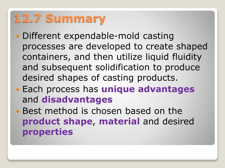 Different expendable-mold casting processes are developed to create shaped containers, and then utilize liquid fluidity and subsequent solidification to produce desired shapes of casting products.