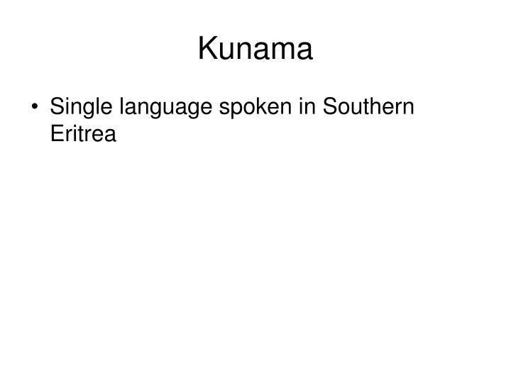 Kunama