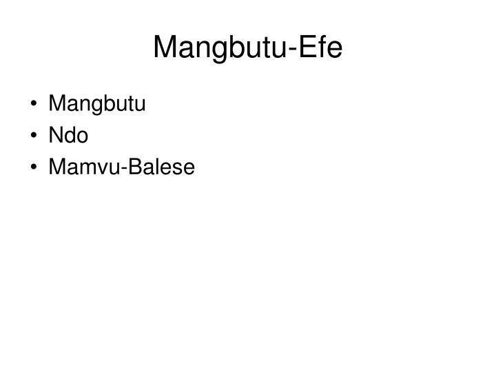 Mangbutu-Efe