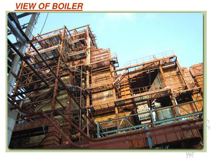 VIEW OF BOILER