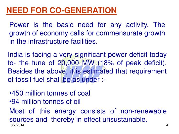 NEED FOR CO-GENERATION