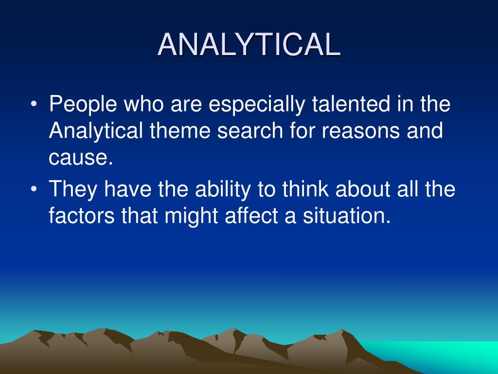 ANALYTICAL