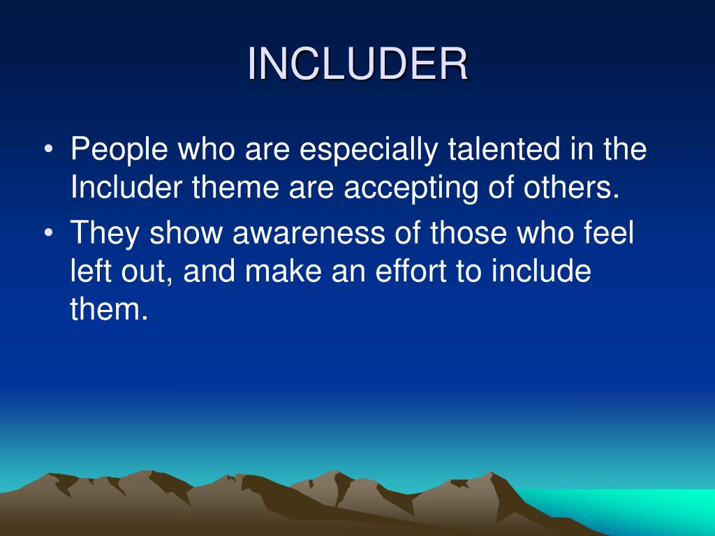 INCLUDER