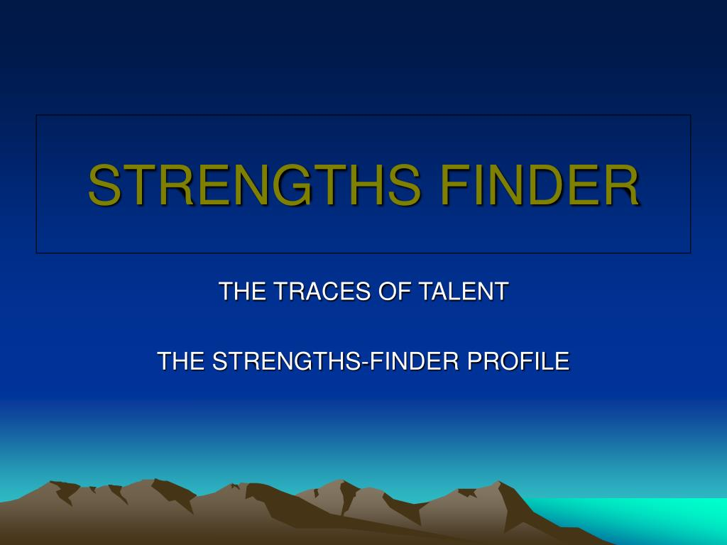 strengths finder l.