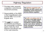 highway regulation