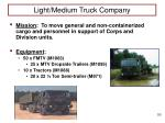 light medium truck company