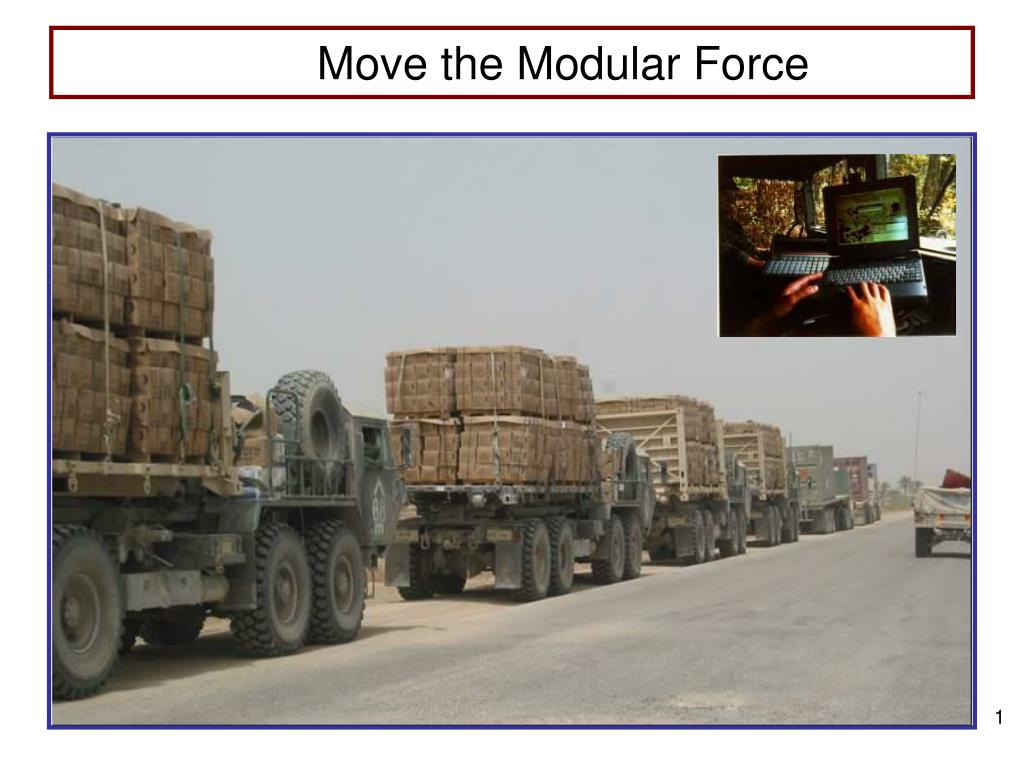 move the modular force l.
