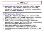 tlo and elos