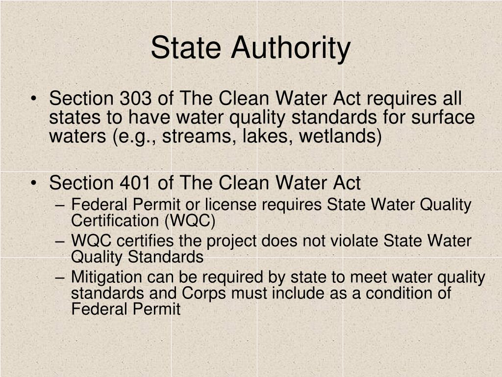 PPT - Stream Mitigation and the Clean Water Act Sec. 401 ...