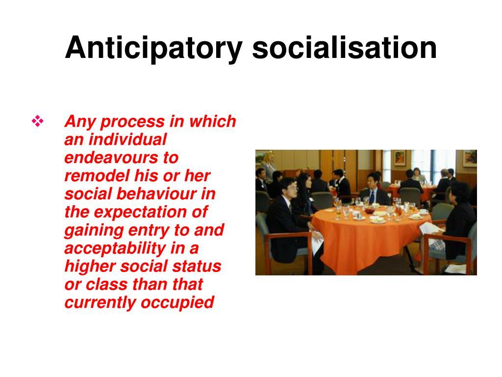 Anticipatory socialisation