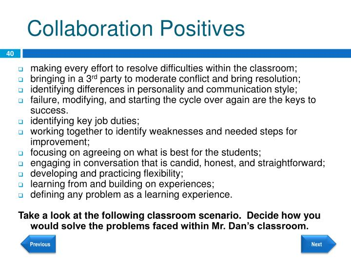 Collaboration Positives