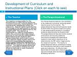 development of curriculum and instructional plans click on each to see