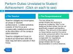 perform duties unrelated to student achievement click on each to see