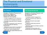 the physical and emotional environments dependent on iep mandates