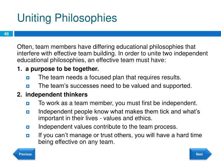 Uniting Philosophies