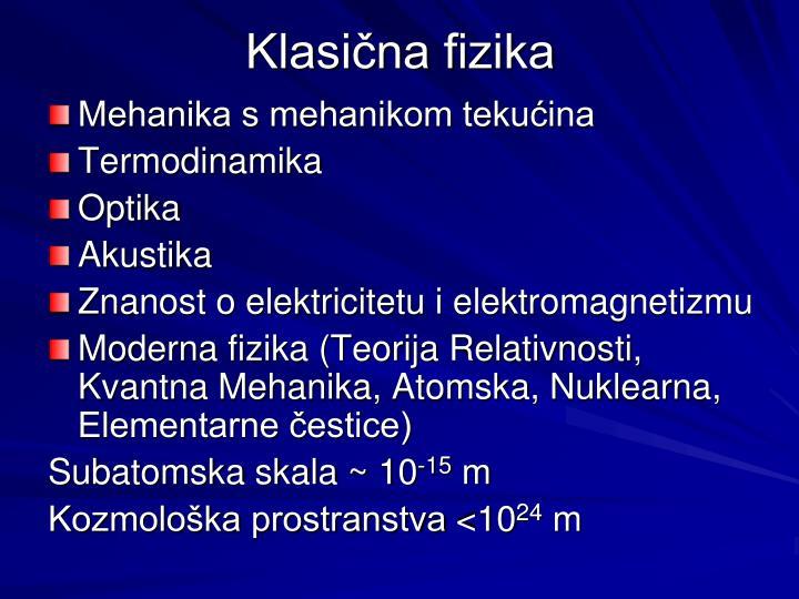Klasična fizika