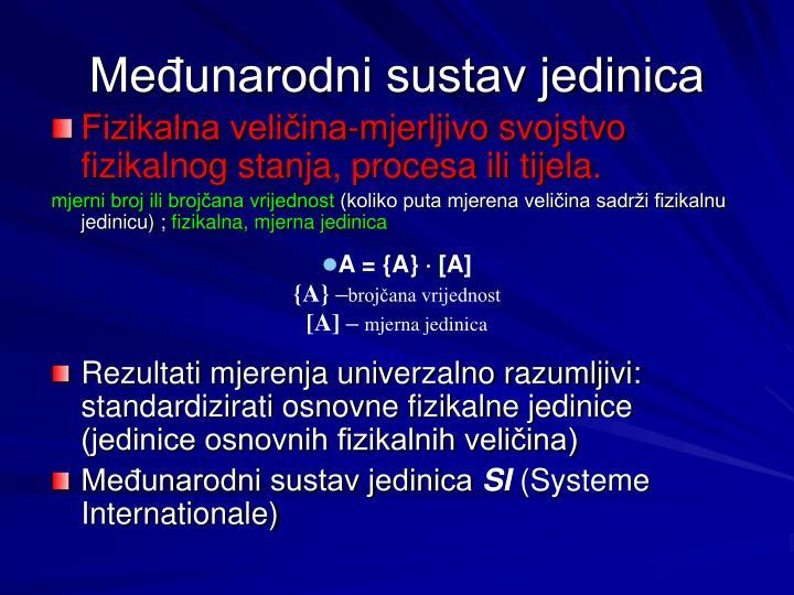 Međunarodni sustav jedinica