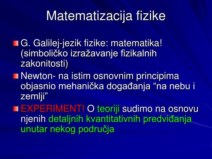 Matematizacija fizike