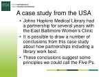 a case study from the usa