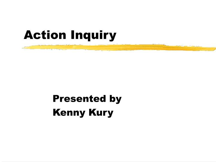 action inquiry n.