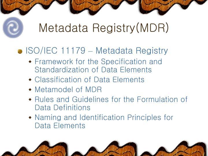 Metadata Registry(MDR)