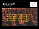 2008 gmso some history