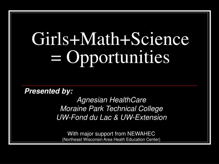 girls math science opportunities n.