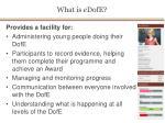 what is e dofe