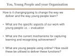 you young people and your organisation