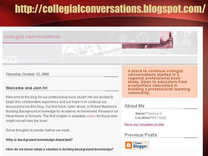 http://collegialconversations.blogspot.com/