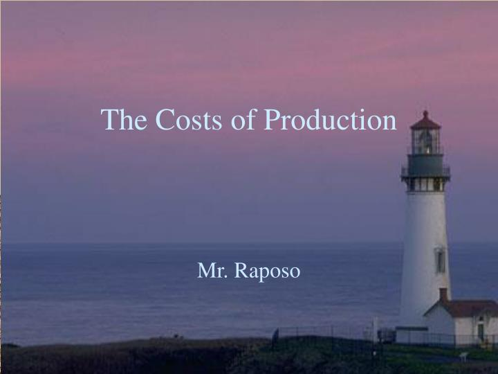 the costs of production n.