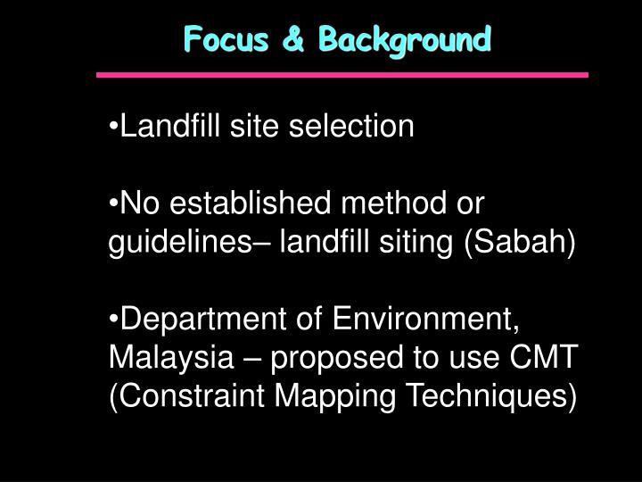 Focus & Background