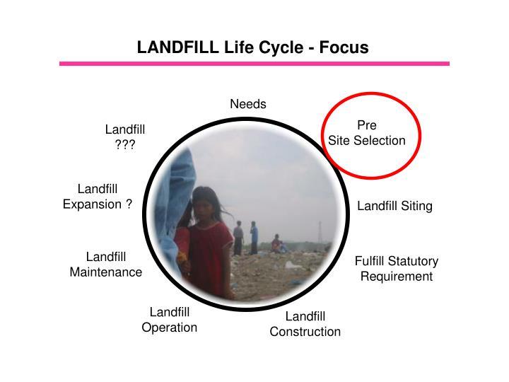 LANDFILL Life Cycle - Focus