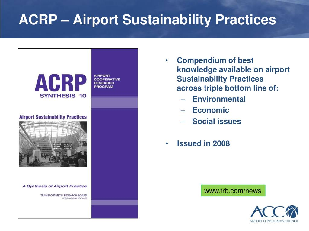 ACRP – Airport Sustainability Practices