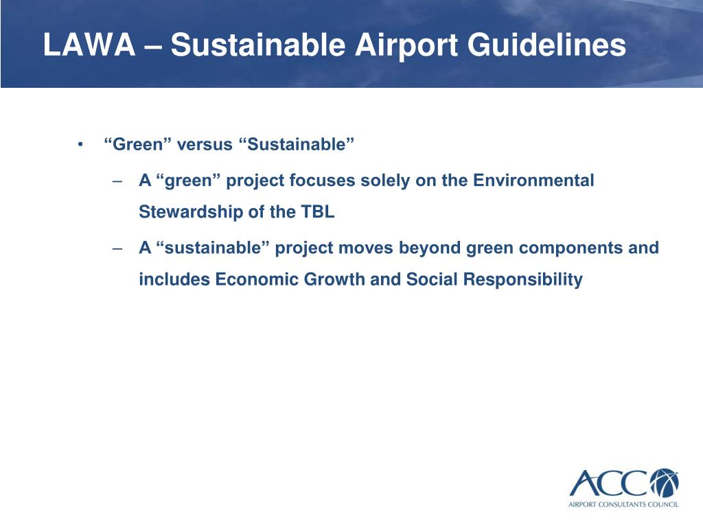LAWA – Sustainable Airport Guidelines