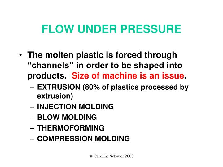 FLOW UNDER PRESSURE