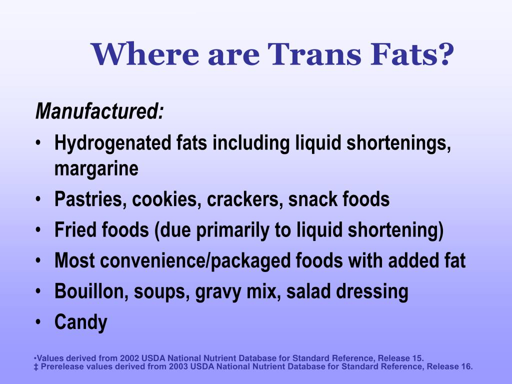 Where are Trans Fats?