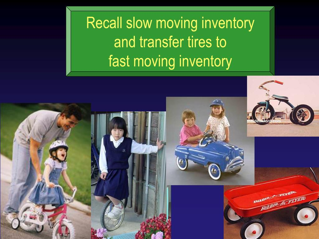 Recall slow moving inventory