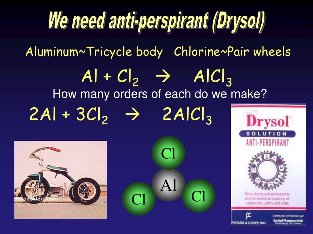 We need anti-perspirant (Drysol)