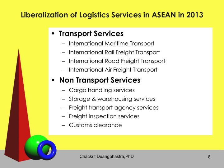 Liberalization of Logistics Services in ASEAN in 2013
