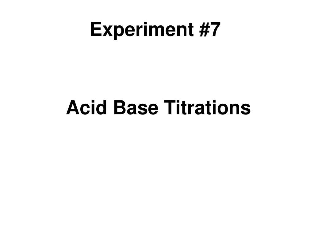 titration experiment report
