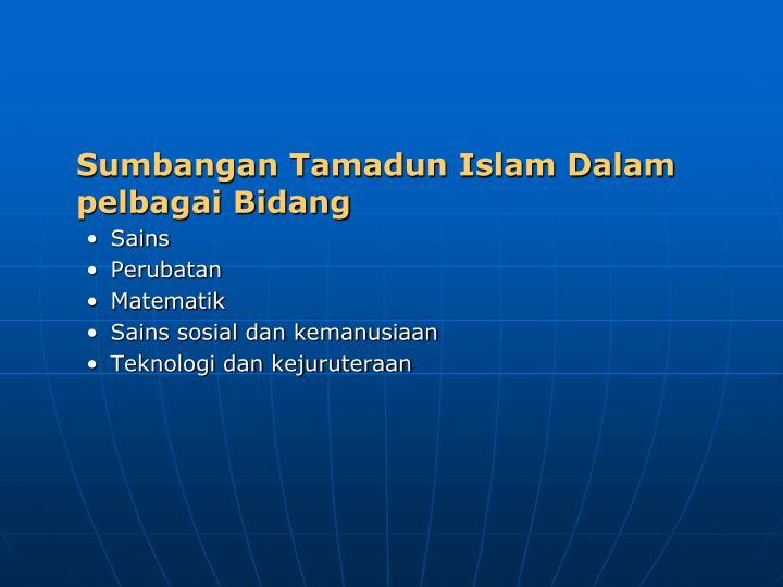 Sumbangan Tamadun Islam Dalam pelbagai Bidang