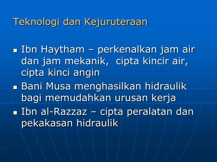 Teknologi dan Kejuruteraan