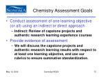 chemistry assessment goals