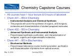 chemistry capstone courses