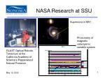 nasa research at ssu