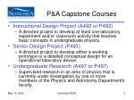 p a capstone courses