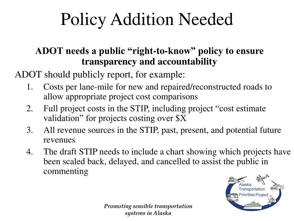 Policy Addition Needed