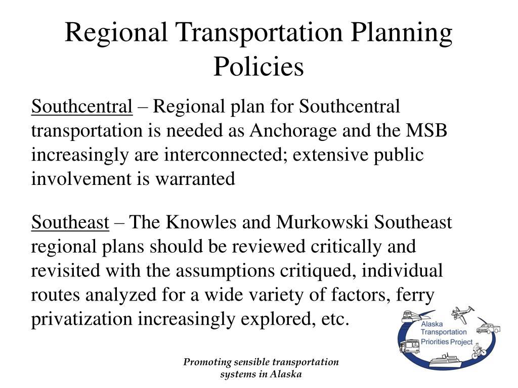 Regional Transportation Planning Policies