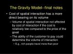 the gravity model final notes1